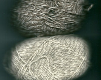 These are 50 gm DK  balls of Jacob/ Blueface Leicester wool
