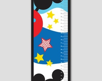 Mickey Mouse Clubhouse Growth Chart- Vinyl Print, Growth Charts for Boys, Nursery and Childen Decor