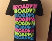 Vintage 80s Broadway Neon T-Shirt Soft and Broken in