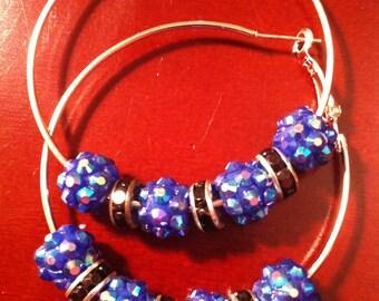 Basketball Wife Inspired Earrings - Blue