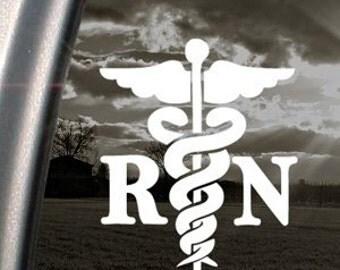 "Medical Cross RN Registered Nurse 6"" Vinyl Decal Widow Sticker for Car, Truck, Motorcycle, Laptop, Ipad, Window, Wall, ETC"