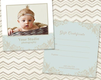 Photography Gift Certificate Template 004 - C044, INSTANT DOWNLOAD