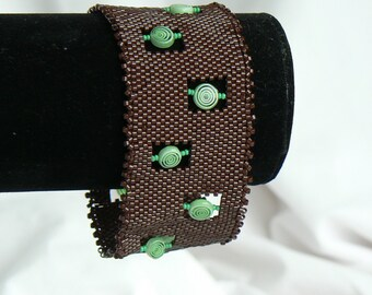 Chocolate Mint Bracelet Uzunov Jewelry Designs