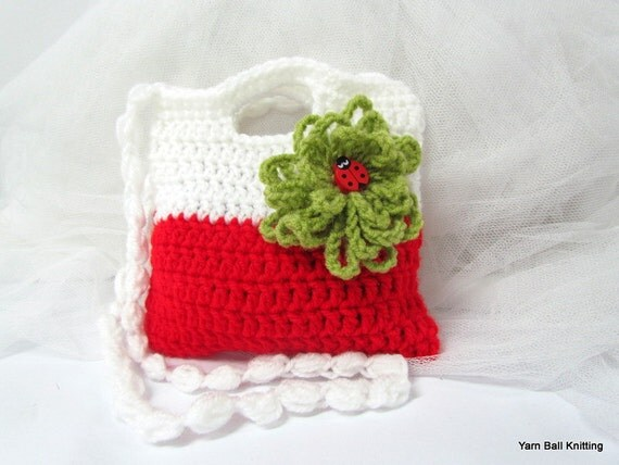 Crochet Purse For Child : Crochet girl Purse. Crochet Clutch. Childrens Crochet Purse.Crochet ...