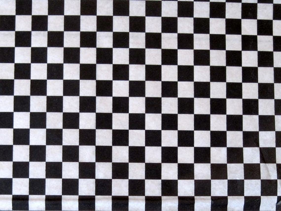 Checkered Wax Paper Wax Paper-100 Sheets of Black
