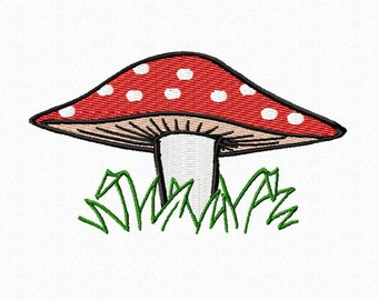 Embroidery pattern - Mushroom - fly agaric