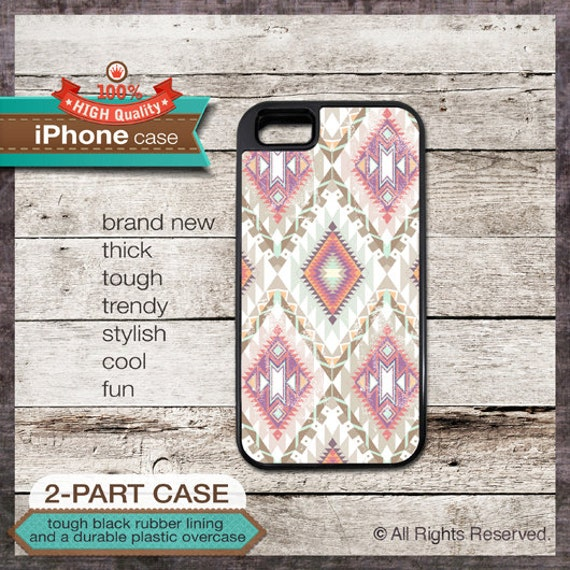 iPhone 6, 6+, 5 5S, 5C, 4 4S, Samsung Galaxy S3, S4 - Tribal Navajo Pattern - Design Cover 34