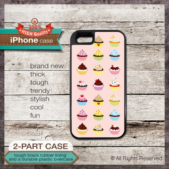 Cupcakes - iPhone 6, 6+, 5 5S, 5C, 4 4S, Samsung Galaxy S3, S4  - Design Cover 155