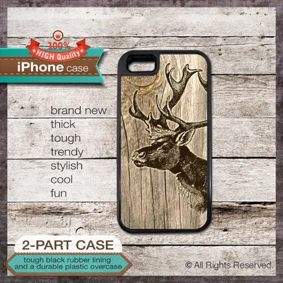Deer on Wood 03 iPhone case - - iPhone 6, 6+, 5 5S, 5C, 4 4S, Samsung Galaxy S3, S4