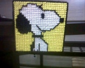 Peanuts magnets needlepoint plastic canvas