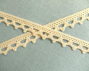 1 m Crochet-lace trim organic cotton 8 mm
