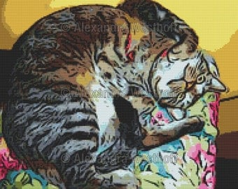 "Cross stitch chart ""Mecki Comixed"""