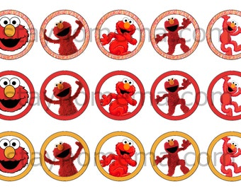 INSTANT DOWNLOAD One Inch 4x6 Bottle Cap Images: Elmo