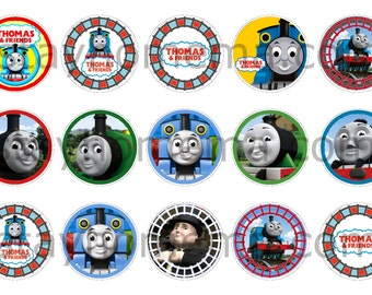 INSTANT DOWNLOAD One Inch 4x6 Bottle Cap Images: Thomas the Train