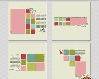 Rounded Squares 12x12 Templates