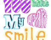 You Make My Heart Smile - Love Romance Card