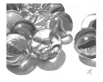 Digital Print: Marbles