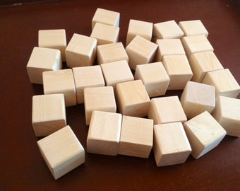 30 Wood Blocks, Alphabet Blocks, Great for Baby Showers, Baby Blocks