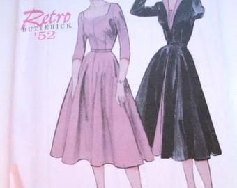 Butterick Dress Pattern Retro 6307 1952 design 12 14 16