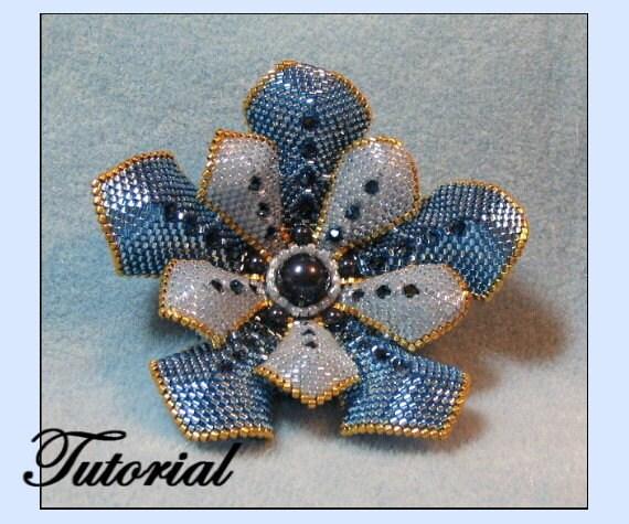 Brooch Beads: Flower Pearl Beaded Brooch Beaded Jewelry Pattern