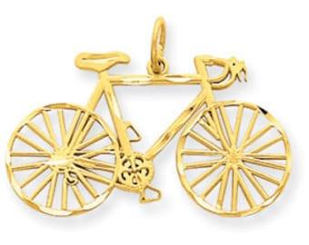 Diamond Cut Bicycle Pendant (JC-683)