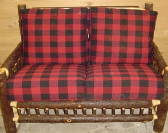OLD Fashioned HICKORY SOFA- Love Seat