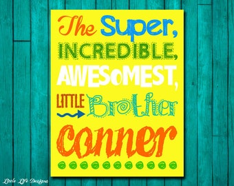 Best Brother Gift. Best Brother Sign. Children's Wall Art. Children's Decor. Best Brother Ever. Big Brother Little Brother. Boys Room Decor.
