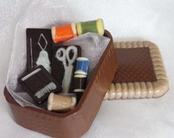 Hand-made Belgian chocolate sewing kit