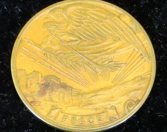 Vintage 1919 World War I US Angel of Peace Medal Token