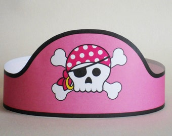 Pirate Girl Paper Crown - Printable