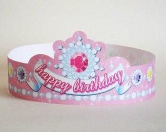 Princess Birthday Paper Crown - Printable