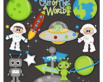 DIGITAL SCRAPBOOKING CLIPART - When I Grow Up Astronaut