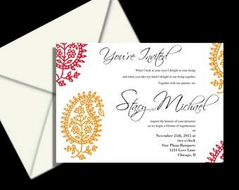 Indian wedding invitation suite ,  Hena wedding invitations