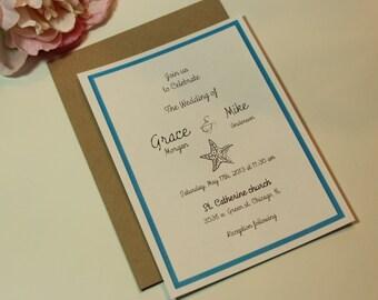wedding invitations,  Beach wedding invites