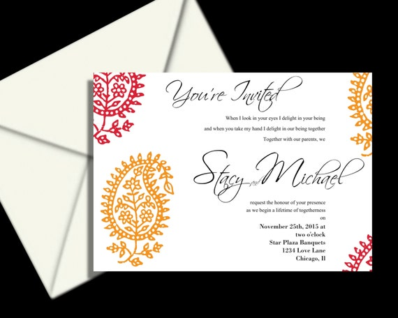 100 Wedding Invitations: 100 Complete Wedding Invitation Package Indian Wedding