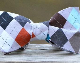 Snappy Argyle Bow Tie
