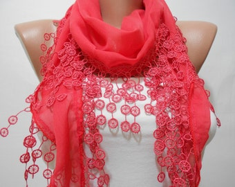 Soft Cotton Scarf Coral Scarf Spring Summer Fashion Scarf Women Fashion Accessories Christmas Gifts For Her Gift For Women Mothers Day Gift