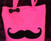 Fancy Mustache Tote