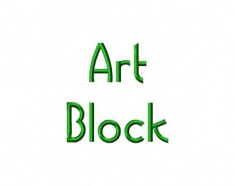 Art Block Machine Embroidery Fonts 1095