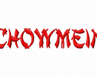 Chowmein Machine Embroidery Fonts 1130