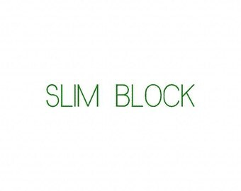 Slim Block Machine Embroidery Fonts 1322