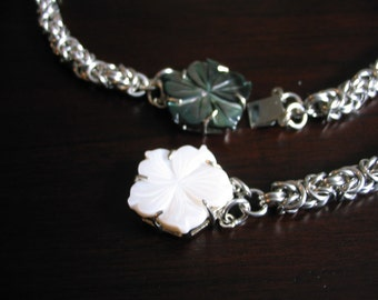 Hibiscus Byzantine Chainmaille Necklace