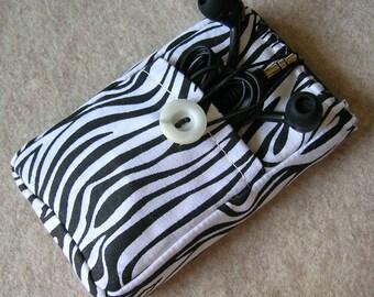 iPod Classic Case, Credit Card Holder, Clutch, Purse, Phone Case, Zebra Print Stripes