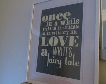 SALE ITEM: Love writes a fairy tale - A3 Art Print