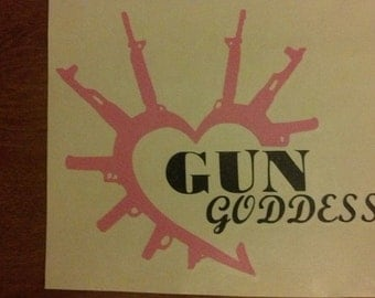7'' Gun Goddess Vinyl Decal