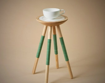 Tea for one table in green