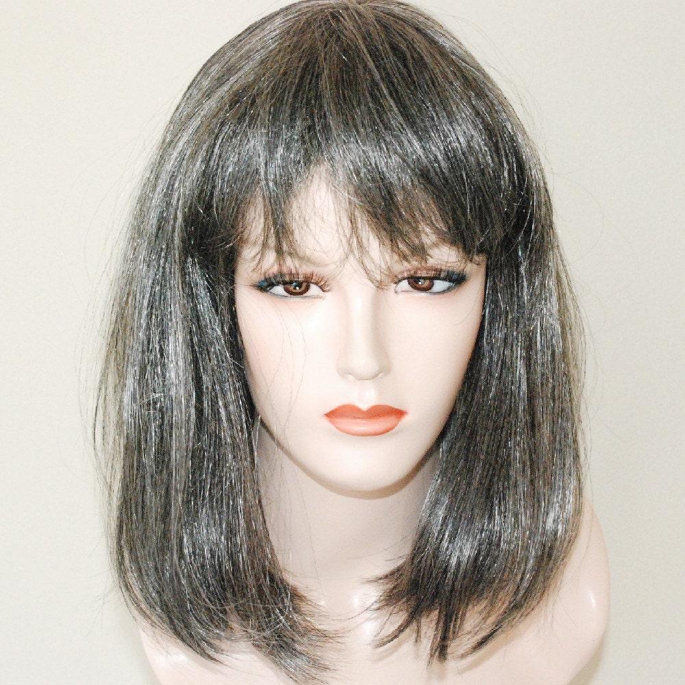 Mix Grey Wig Bop Style