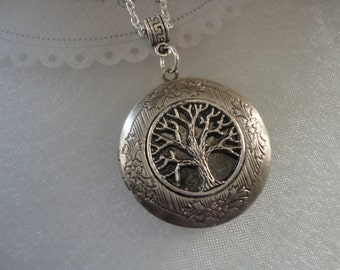 Tree of Life Locket Necklace, Family Tree Locket, Photo Locket, Mothers Gift, Girlfriend Women Gift