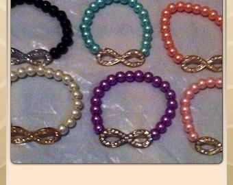 Infinity multi color bracelets