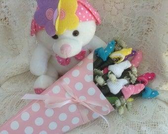 Rosebud Baby Sock Bouquet